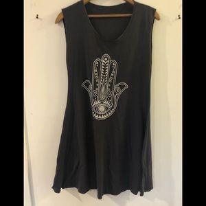 Grey tank top/tunic shirt size large